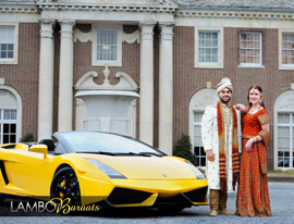 Lamborghini exotic car indian wedding